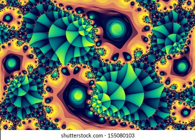 Fractal colony: colorful abstract illustration