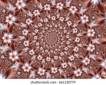 Fractal floral patterns
