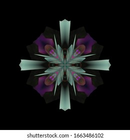 Fractal flower. Abstract fractal art in floral style.