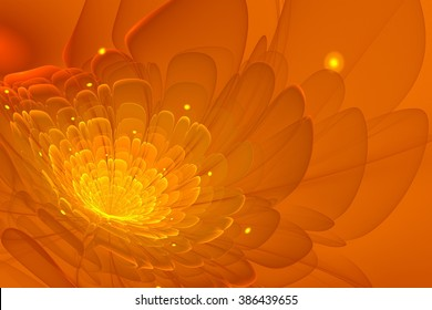 Fractal flower with yellow dots