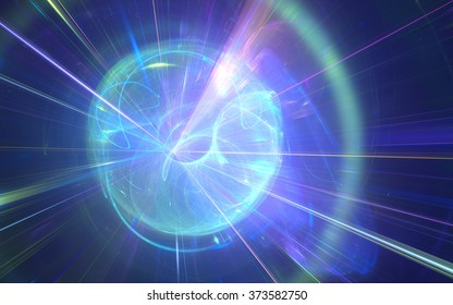 Fractal fusion: abstract computer-generated image for topics such as space, science & technology