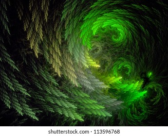 Fractal Illustration background. Abstract graphic. Rendered image.