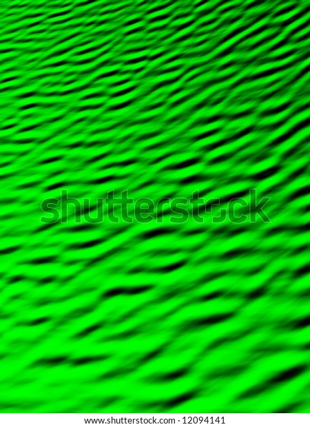 Fractal image of a green ripple background.