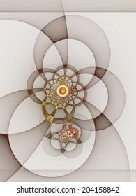 Fractal mechanics: abstract geometric design