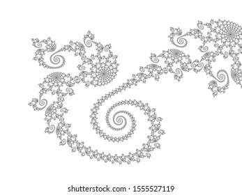 Fractal Pattern – beautiful filigree fractal line pattern with spirals