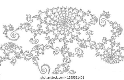 Fractal Pattern – beautiful monochrome filigree fractal pattern with spirals