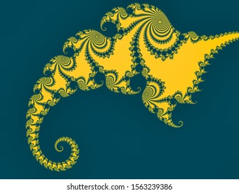 Fractal Pattern – beautiful fractal pattern with spirals - flat color - good copy space
