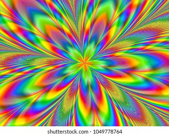 Fractal psychedelic happiness colors