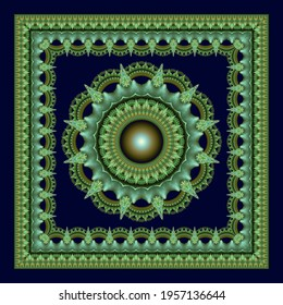 Fractal radiating star ornate decoration