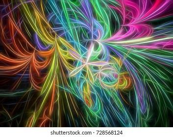 Fractal rendered color Imagination