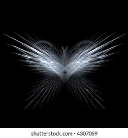 Fractal rendering of angel or butterfly wings
