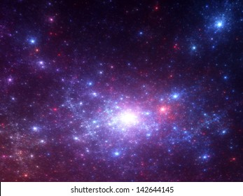 Fractal space background - stunning abstract render of a sea of stars