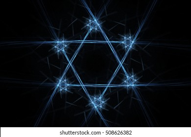 Fractal Star of David with small stars