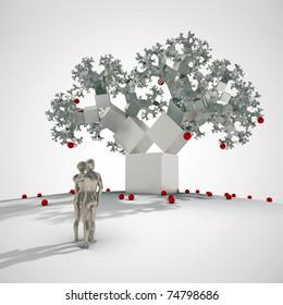 fractal tree in digital eden