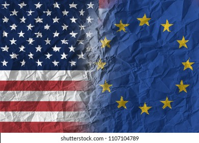Fragile diplomatic crisis and relations between USA and EU