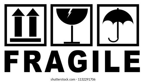fragile sticker for packaging