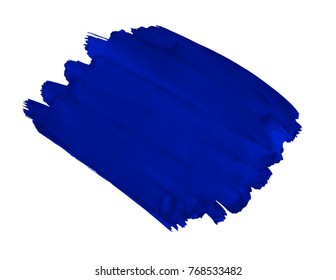 A fragment of the fashionable cobalt blue color background painted with watercolors