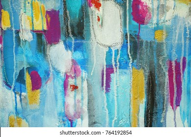 Fragments of abstract paintings,hand painted