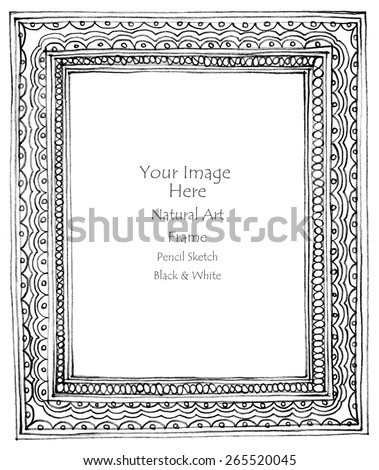 Frame Art Line Pencil Sketch By Stock Illustration 265520045 ...