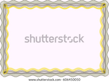 Royalty Free Stock Illustration Of Frame Blank Template Certificate