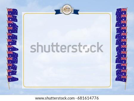 Frame Border Flag Coat Arms Australia Stock Illustration 681614776 ...