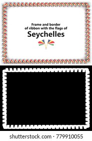 frame border ribbon syria flag diplomas stock illustration 777296878