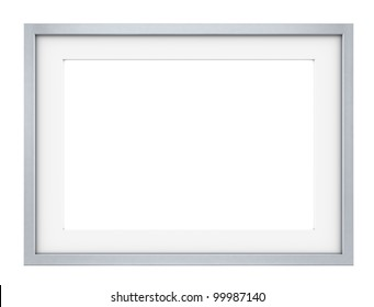 Frame. Picture frame of Steel. Slightly rounded edges. Sparse design.