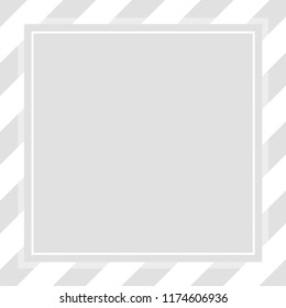 frame square template grey pastel soft color banner for cosmetics background, graphic frame grey pastel for advertising promotion special sale discount on media social online marketing products