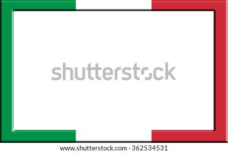 Frame Striped Italy Flag Stock Illustration 362534531 Shutterstock