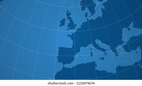 Map Of France Outline Only.France Neighborhood Distant Perspective Without Outline Stock
