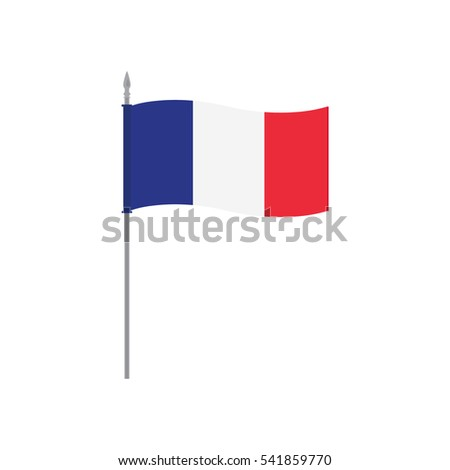 France Raster Table Flag Template Waving Stock Illustration ...
