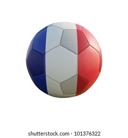 france soccer ball isolated on white