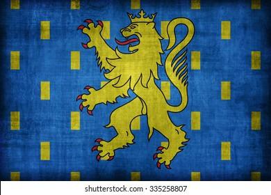 Franche-Comte flag pattern , retro vintage style