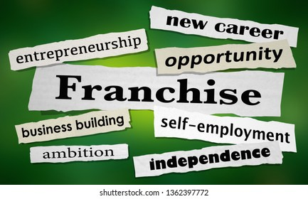 Franchise Opportunity Start Your Business News Headlines 3d Illustration