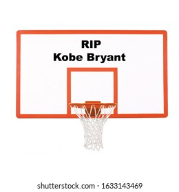 Franklin, Tennessee-January 28, 2020:  Kobe Bryant memorial illustration