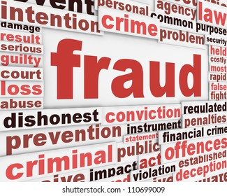 Fraud message conceptual design. Criminal offence poster concept