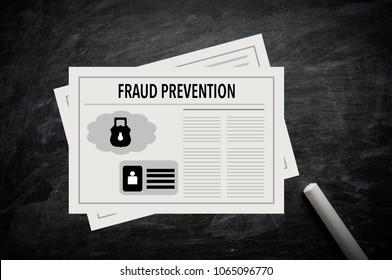 Fraud Prevention Illustration on chalkboard