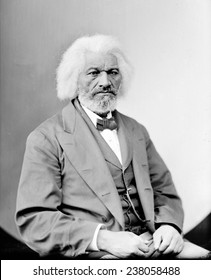 Frederick Douglass (1818-1895), African Americam abolitionist, writer and statesman, ca 1870s.