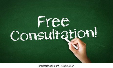 """Free Consultation"" Chalk Illustration"