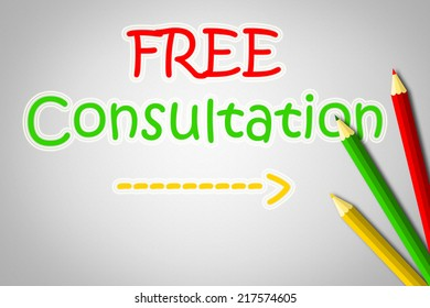 Free Consultation Concept text on background