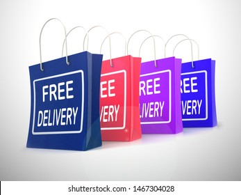 Free delivery of goods at no charge means nothing paid. Shipping price included in the selling amount - 3d illustration