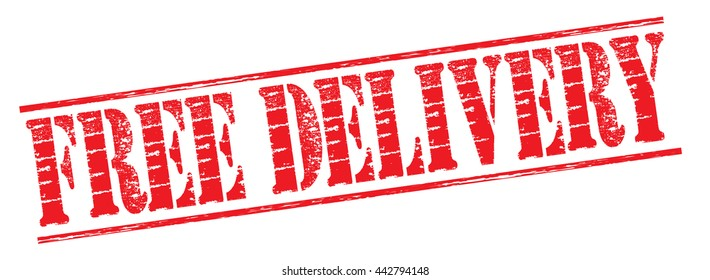 free delivery grunge stamp on a white background