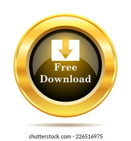 Free download icon. Internet button on white background.