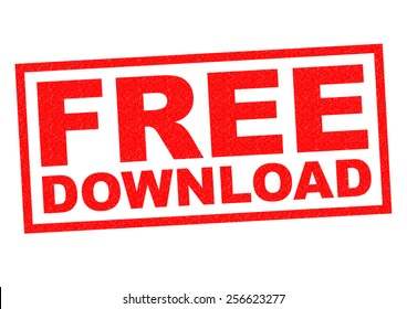 FREE DOWNLOAD red Rubber Stamp over a white background.