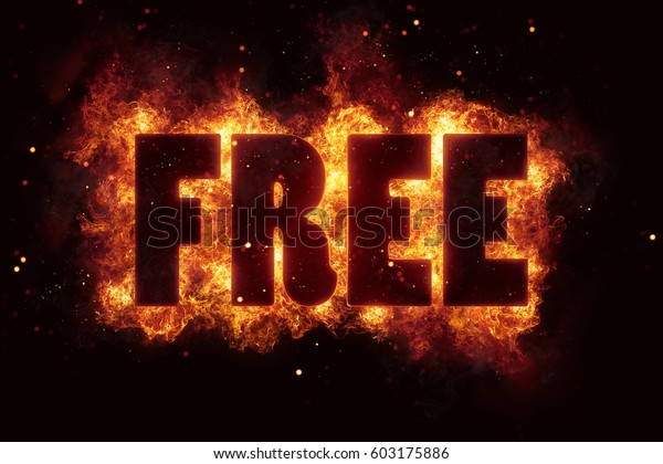 Free Fire Text Flame Flames Burn Stock Illustration 603175886