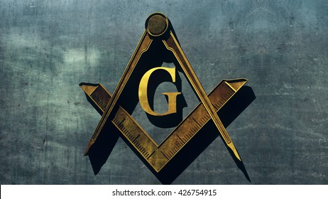 Free Masonic Grand Lodge Sign Editorial 3D Illustration