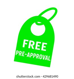 free pre approval white wording on background green key chain