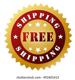 free shipping badge concept 3d illustration