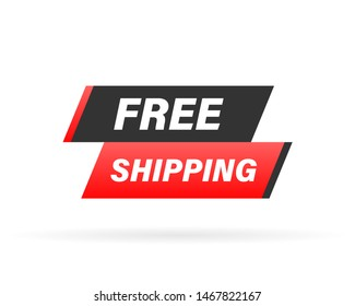 Free shipping rubber stamp. Red Free shipping rubber grunge stamp illustration.