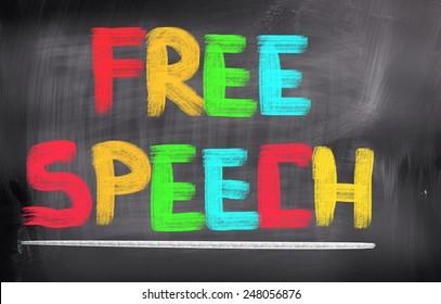 Free Speech Concept